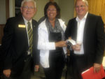 Lion President Ken Drynan, David Poirier and his wife Mary